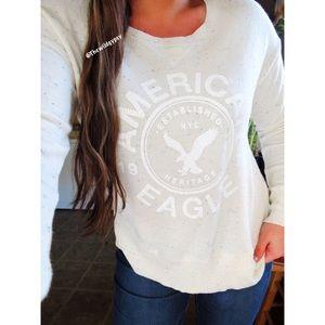 American Eagle confetti pullover sweater ☕️
